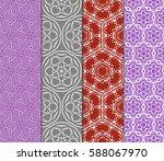 seamless patterns set. vintage... | Shutterstock .eps vector #588067970