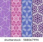 set of modern floral pattern of ... | Shutterstock .eps vector #588067994