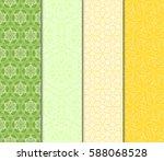 set of decorative geometric... | Shutterstock .eps vector #588068528