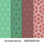 set of decorative geometric... | Shutterstock .eps vector #588068540