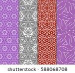 seamless set floral pattern.... | Shutterstock .eps vector #588068708