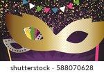 big golden carnival mask