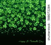 pattern clover leaves on a... | Shutterstock .eps vector #588072284