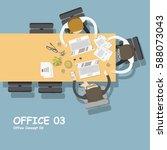 business people meeting... | Shutterstock .eps vector #588073043