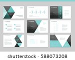 page layout design template for ... | Shutterstock .eps vector #588073208