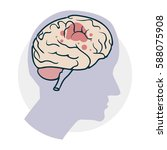 problems with the brain. icon... | Shutterstock .eps vector #588075908