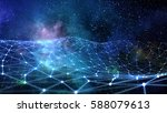 connected lines background    . ... | Shutterstock . vector #588079613