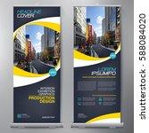 business roll up. standee... | Shutterstock .eps vector #588084020