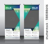 roll up brochure flyer banner... | Shutterstock .eps vector #588088646