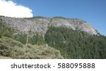granite mountains in yosemite... | Shutterstock . vector #588095888