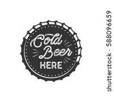 vintage style beer badge. ink... | Shutterstock . vector #588096659