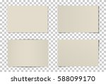 vector set of curved photo... | Shutterstock .eps vector #588099170
