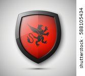 protection shield concept coat... | Shutterstock .eps vector #588105434