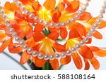 pearls on a background of