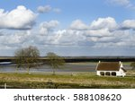 Small photo of The lovely French cummune Saint Valery sur Somme in early spring.