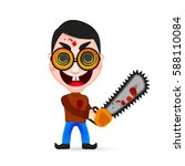 psycho killer  of a psychopath... | Shutterstock .eps vector #588110084