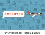 "airplane with banner ""employed"" ... 