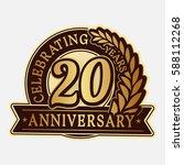 20 years anniversary logo... | Shutterstock .eps vector #588112268