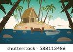 cartoon illustration of the... | Shutterstock .eps vector #588113486