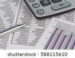 calculators and statistk | Shutterstock . vector #588115610