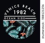 venice beach illustration  for... | Shutterstock .eps vector #588121256