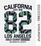 california  los angeles vector... | Shutterstock .eps vector #588121310