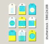 vector collection of hand draw... | Shutterstock .eps vector #588126188