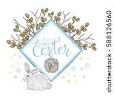 easter label background.cards... | Shutterstock .eps vector #588126560