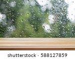Brown Wood Table Floor Scene O...