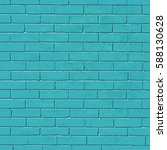 old blue brick wall vector... | Shutterstock .eps vector #588130628