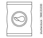 potato chips icon. outline... | Shutterstock .eps vector #588131030