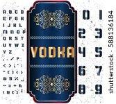 script font typeface vodka... | Shutterstock .eps vector #588136184