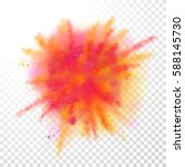 paint powder explosion on... | Shutterstock .eps vector #588145730