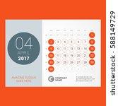 calendar template for april... | Shutterstock .eps vector #588149729