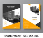 color annual report cover ... | Shutterstock .eps vector #588155606