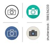 photo camera icon. flat design  ... | Shutterstock .eps vector #588156233