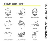 beauty salon icons set ... | Shutterstock .eps vector #588161570