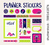 cute signs and symbols for... | Shutterstock .eps vector #588161876