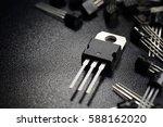 Macro Shot Of Power Transistor...