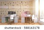 office interior. 3d illustration | Shutterstock . vector #588163178