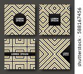 set of abstract vector design ... | Shutterstock .eps vector #588167456