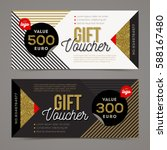gift voucher template with... | Shutterstock .eps vector #588167480