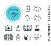 vector illustration of 12... | Shutterstock .eps vector #588167534