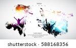 silhouette of dancing people | Shutterstock .eps vector #588168356