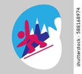 snowboard   Shutterstock .eps vector #588168974