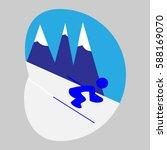 skiing  sport  icon  logo ...   Shutterstock .eps vector #588169070