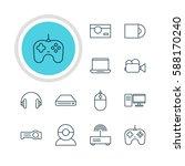 illustration of 12 technology...   Shutterstock . vector #588170240