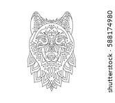 stylized zentangle wolf...   Shutterstock .eps vector #588174980