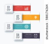 infographics template four... | Shutterstock .eps vector #588176264
