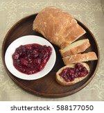 Raspberry Jam And Bread. Jam...